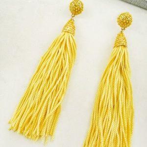 Mustard Bold Colored Tassel Earrings